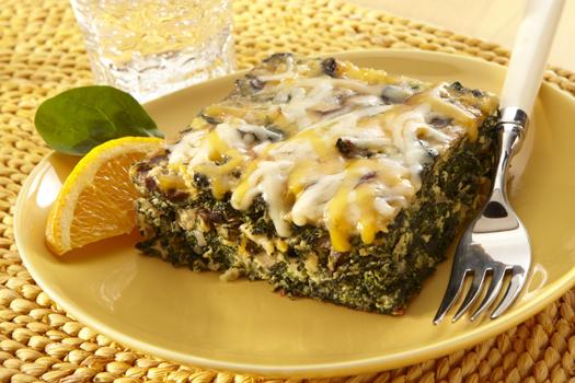Spinach & Mushroom Casserole