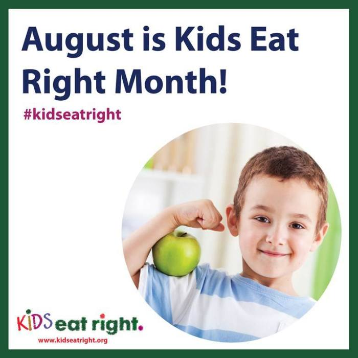 kids eat right  month